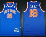 New York Knicks #19 Willis Reed Blue Throwback Stitched NBA Jersey