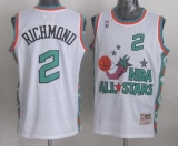 Mitchell And Ness Sacramento Kings #2 Mitch Richmond White 1996 All star Stitched NBA Jersey