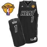 Miami Heat Finals Patch #1 Chris Bosh Black Shadow Stitched NBA Jersey