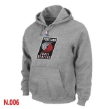 NBA Portland Trail Blazers Pullover Hoodie Light Grey