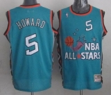 Mitchell And Ness Washington Wizards #5 Juwan Howard Light Blue 1996 All star Stitched NBA Jersey