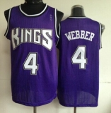 Sacramento Kings #4 Chris Webber Purple Throwback Stitched NBA Jersey