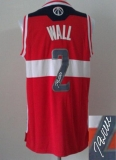 Revolution 30 Autographed Washington Wizards #2 John Wall Red Stitched NBA Jersey