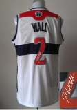Revolution 30 Autographed Washington Wizards #2 John Wall White Stitched NBA Jersey