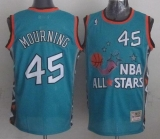 Mitchell And Ness Miami Heat #45 Alonzo Mourning Light Blue 1996 All star Stitched NBA Jersey