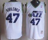 Mitchell And Ness Utah Jazz #47 Andrei Kirilenko White Throwback Stitched NBA Jersey
