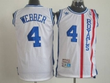 Sacramento Kings #4 Chris Webber White Throwback Stitched NBA Jersey