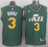 Revolution 30 Utah Jazz #3 Trey Burke Green Stitched NBA Jersey