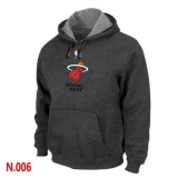 NBA Miami Heat Pullover Hoodie Dark Grey