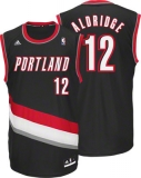 Portland Trail Blazers #12 LaMarcus Aldridge Black Revolution 30 Stitched NBA Jersey
