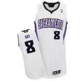 Sacramento Kings #8 Rudy Gay White Revolution 30 Stitched NBA Jersey