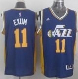 Revolution 30 Utah Jazz #11 Dante Exum Navy Blue Stitched NBA Jersey