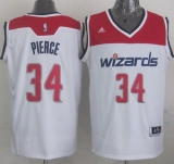 Revolution 30 Washington Wizards #34 Paul Pierce White Stitched NBA Jersey
