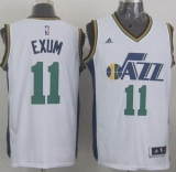 Revolution 30 Utah Jazz #11 Dante Exum White Stitched NBA Jersey