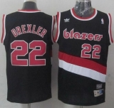 Portland Trail Blazers #22 Clyde Drexler Black Soul Swingman Throwback Stitched NBA Jersey