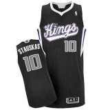 Sacramento Kings #10 Nik Stauskas Black Revolution 30 Stitched NBA Jersey