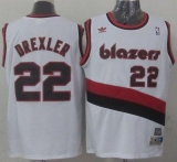 Portland Trail Blazers #22 Clyde Drexler White Soul Swingman Throwback Stitched NBA Jersey