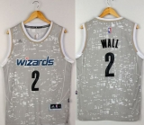 Washington Wizards #2 John Wall Grey City Light Stitched NBA Jersey