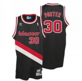 Portland Trail Blazers #30 Terry Porter Black Throwback Stitched NBA Jersey