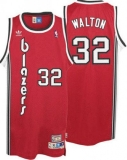 Portland Trail Blazers #32 Bill Walton Red Throwback Stitched NBA Jersey