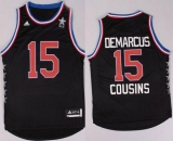 Sacramento Kings #15 DeMarcus Cousins Black 2015 All Star Stitched NBA Jersey