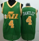 Utah Jazz #4 Adrian Dantley Green Throwback Stitched NBA Jersey