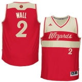 Washington Wizards #2 John Wall Red 2015-2016 Christmas Day Stitched NBA Jersey