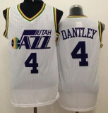 Utah Jazz #4 Adrian Dantley White Throwback Stitched NBA Jersey