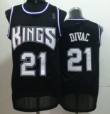 Sacramento Kings #21 Vlade Divac Black Throwback Stitched NBA Jersey