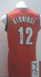Revolution 30 Autographed Portland Trail Blazers #12 Lamarcus Aldridge Red Stitched NBA Jersey
