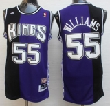 Sacramento Kings #55 Jason Williams Purple Black Throwback Stitched NBA Jersey