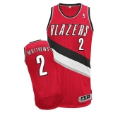 Revolution 30 Portland Trail Blazers #2 Wesley Matthews Red Stitched NBA Jersey
