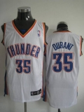 Oklahoma City Thunder #35 Kevin Durant Stitched White NBA Jersey