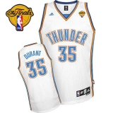 Oklahoma City Thunder #35 Kevin Durant White Finals Patch Stitched NBA Jersey