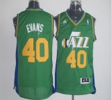 Utah Jazz #40 Jeremy Evans Green Revolution 30 Stitched NBA Jersey