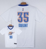 Oklahoma City Thunder #35 Kevin Durant White Pride Stitched NBA Jersey