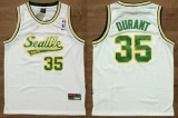 Oklahoma City Thunder #35 Kevin Durant White Throwback Stitched NBA Jersey