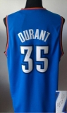 Revolution 30 Autographed Oklahoma City Thunder #35 Kevin Durant Blue Stitched NBA Jersey