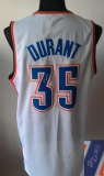 Revolution 30 Autographed Oklahoma City Thunder #35 Kevin Durant White Stitched NBA Jersey