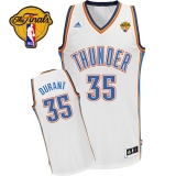 Revolution 30 Oklahoma City Thunder #35 Kevin Durant White Finals Patch Stitched NBA Jersey