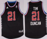 San Antonio Spurs #21 Tim Duncan Black 2015 All Star Stitched NBA Jersey