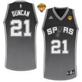 San Antonio Spurs #21 Tim Duncan Black Resonate Fashion Swingman Finals Patch Stitched NBA Jersey