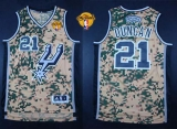 San Antonio Spurs #21 Tim Duncan Camo Finals Patch Stitched NBA Jersey