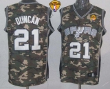 San Antonio Spurs #21 Tim Duncan Camo Stealth Collection Finals Patch Stitched NBA Jersey