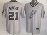 San Antonio Spurs #21 Tim Duncan Grey 2013 Christmas Day Swingman Stitched NBA Jersey
