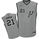 San Antonio Spurs #21 Tim Duncan Grey Alternate Stitched NBA Jersey