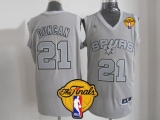 San Antonio Spurs #21 Tim Duncan Grey Big Color Fashion Finals Patch Stitched NBA Jersey