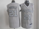 San Antonio Spurs #21 Tim Duncan Grey Big Color Fashion Stitched NBA Jersey