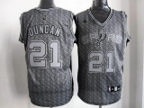 San Antonio Spurs #21 Tim Duncan Grey Static Fashion Stitched NBA Jersey