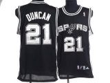San Antonio Spurs #21 Tim Duncan Stitched black NBA Jersey